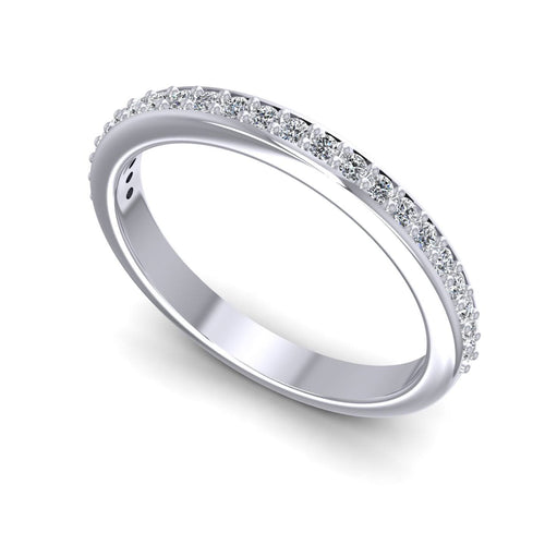 0.25 CT Round Cut Diamonds - Wedding Band