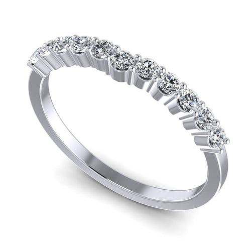 0.35 CT Round Cut Diamonds - Wedding Band