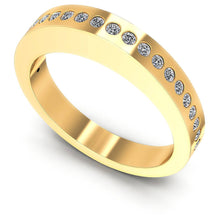 Load image into Gallery viewer, 0.25 CT Round Cut Diamonds - Wedding Band
