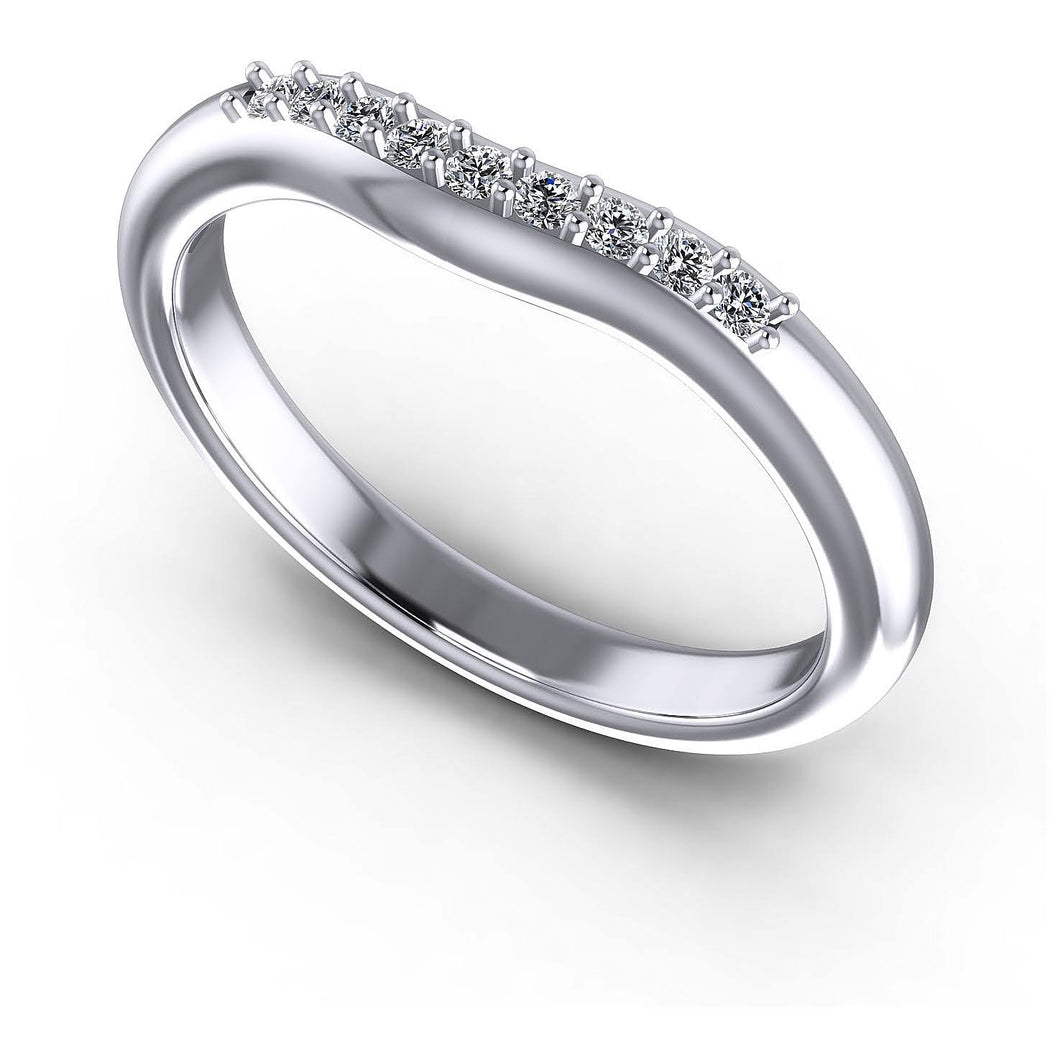 0.15 CT Round Cut Diamonds - Wedding Band