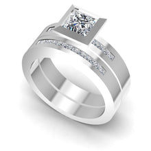 Load image into Gallery viewer, Bridal Sets 0.80-1.95CT Princess & Round Cut Diamonds