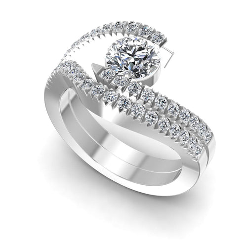 Bridal Sets 0.95-2.10CT Round Cut Diamonds