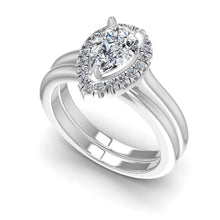 Load image into Gallery viewer, Bridal Sets 0.55-1.70CT Round & Pear Cut Diamonds