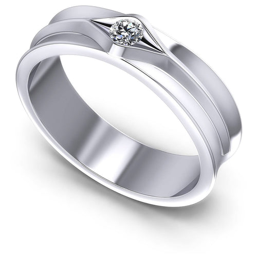 0.10 CT Round Cut Diamonds - Mens Ring
