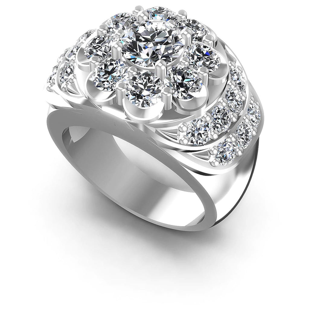3.15 CT Round Cut Diamonds - Fashion Ring