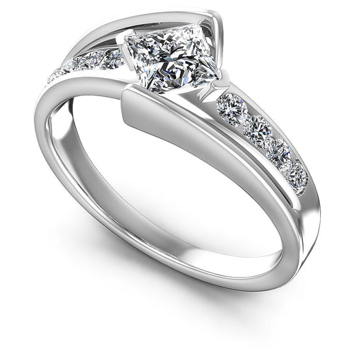 0.60-1.75 CT Round & Princess Cut Diamonds - Engagement Ring