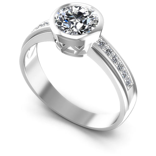 0.50-1.65 CT Round & Princess Cut Diamonds - Engagement Ring