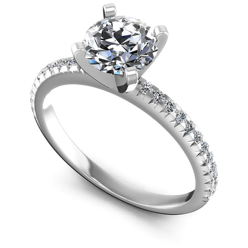 0.55-1.70 CT Round Cut Diamonds - Engagement Ring