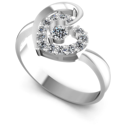 0.30 CT Round Cut Diamonds - Fashion Ring