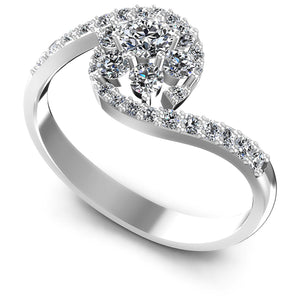 0.75 CT Round Cut Diamonds - Fashion Ring