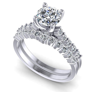 Bridal Sets 1.10-2.25CT Round Cut Diamonds