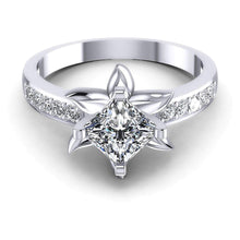 Load image into Gallery viewer, 0.60-1.75 CT Round & Princess Cut Diamonds - Engagement Ring