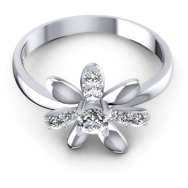 0.35 CT Round Cut Diamonds - Fashion Ring