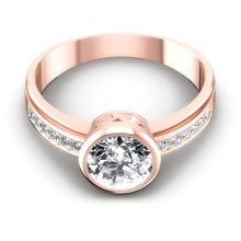 Load image into Gallery viewer, 0.50-1.65 CT Round Cut Diamonds - Engagement Ring