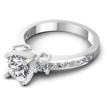 Load image into Gallery viewer, Superior  Princess  &  Round  Diamond  Engagement  Ring  MDL#110428