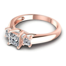Load image into Gallery viewer, 0.75 CT Princess Cut Diamonds - Three Stone Ring