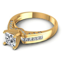 Load image into Gallery viewer, Affordable  Round  &  Princess  Diamond  Engagement  Ring  MDL#110427