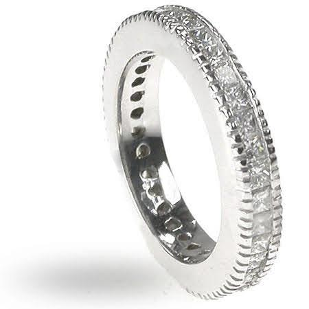 1.90 CT Princess Cut Diamonds - Eternity Ring