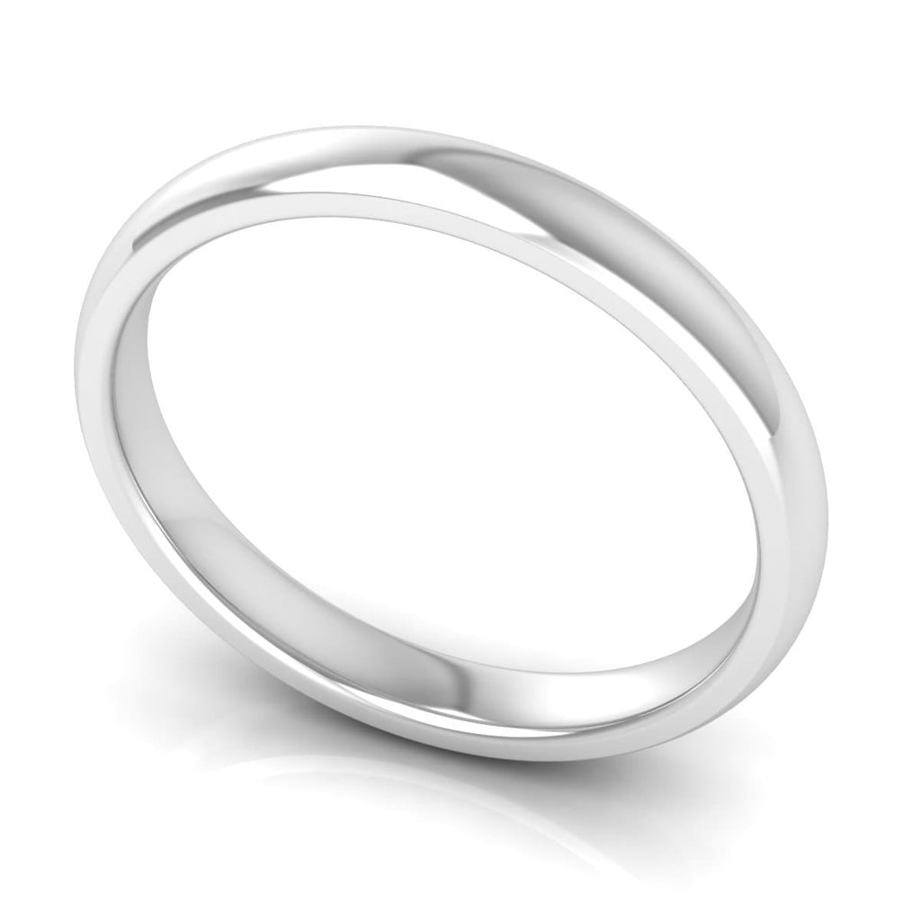 3.0 mm Comfort Fit Plain Wedding Band in 14KT, 18KT & Platinum