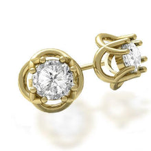 Load image into Gallery viewer, 0.50-2.00 CT Round Cut Diamonds - Stud Earrings