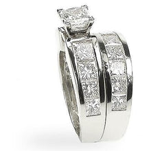 Load image into Gallery viewer, 5.25-6.40 CT Princess Cut Diamonds - Bridal Set