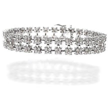 Load image into Gallery viewer, 8.00-8.00 CT Round Cut Diamonds - Diamond Bracelet