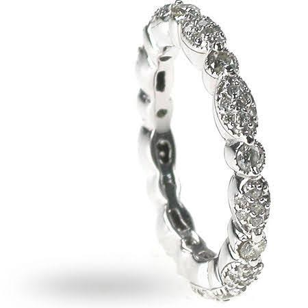 1.20 CT Round Cut Diamonds - Eternity Ring