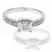 Load image into Gallery viewer, 0.65-1.80 CT Round & Princess Cut Diamonds - Engagement Ring