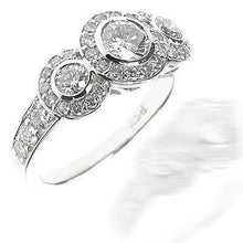 Load image into Gallery viewer, 1.80 CT Round Cut Diamonds - Three Stone Ring