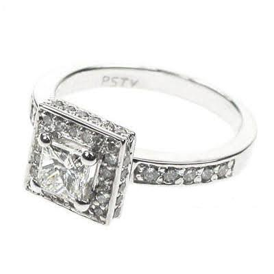 1.35-2.50 CT Round & Princess Cut Diamonds - Engagement Ring