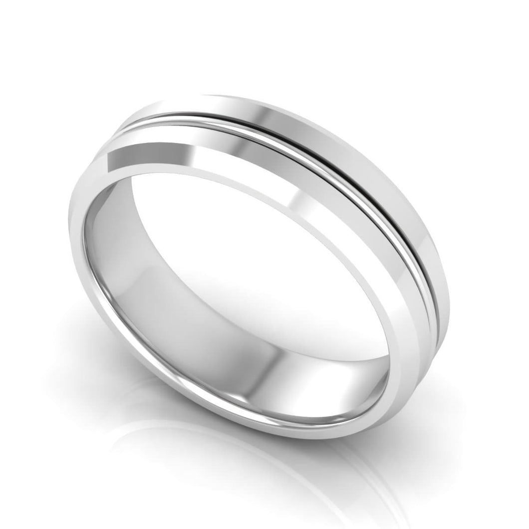 6.0 mm Plain Wedding Band in 14KT, 18KT & Platinum
