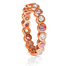 Load image into Gallery viewer, 1.55 CT Round Cut Pink Sapphires & Diamonds - Eternity Ring