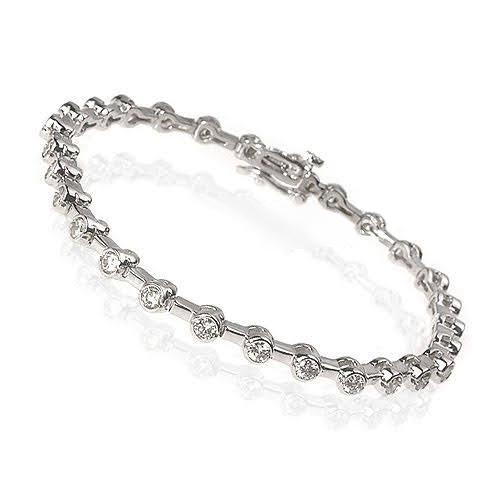 1.10-3.00 CT Round Cut Diamonds - Tennis Bracelet
