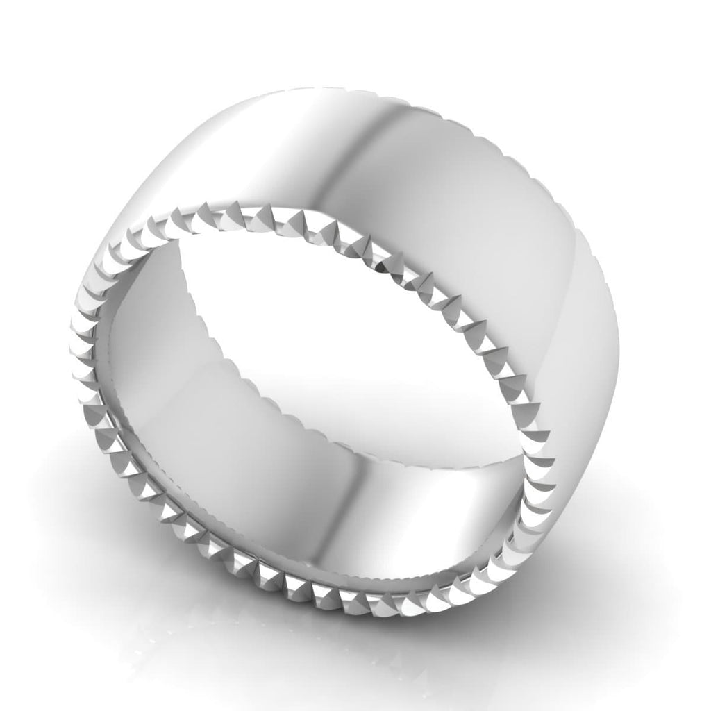 10.0 mm Plain Wedding Band in 14KT, 18KT & Platinum