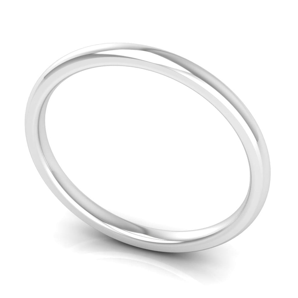 2.0 mm Comfort Fit Plain Wedding Band in 14KT, 18KT & Platinum