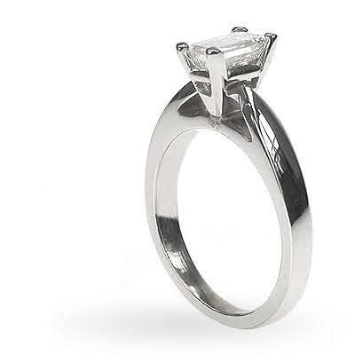 0.35-1.50 CT Emerald Cut Diamonds - Solitaire Ring