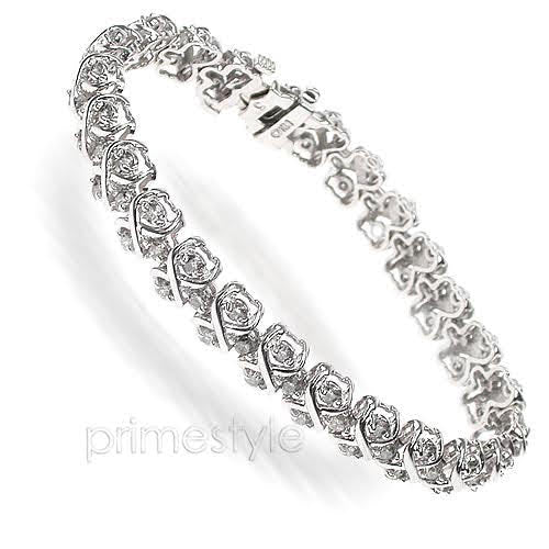 3.00-5.00 CT Round Cut Diamonds - Diamond Bracelet