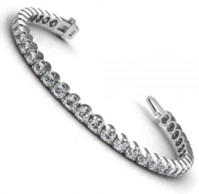 1.00-3.50 CT Round Cut Diamonds - Tennis Bracelet