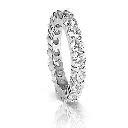 4.00 CT Round Cut Diamonds - Eternity Ring
