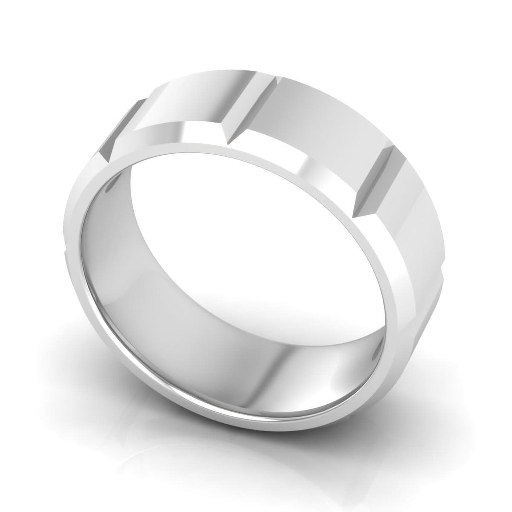8.0 mm Plain Wedding Band in 14KT, 18KT & Platinum