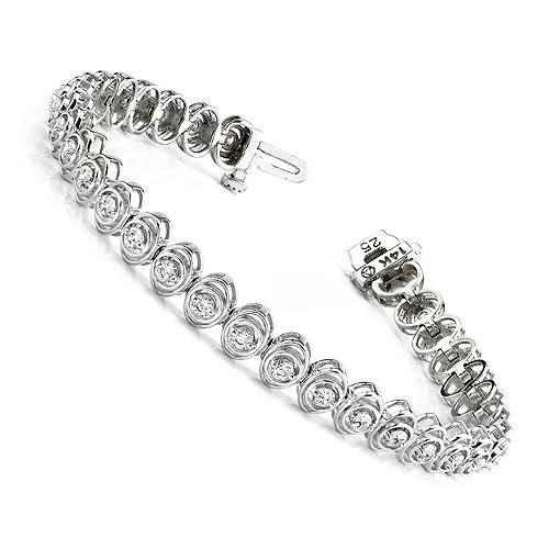 1.00-3.15 CT Round Cut Diamonds - Tennis Bracelet