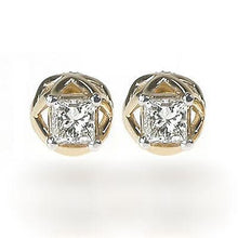Load image into Gallery viewer, 0.30-1.20 CT Princess Cut Diamonds - Stud Earrings