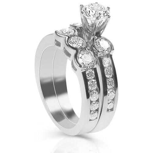 2.30-3.45 CT Round Cut Diamonds - Bridal Set