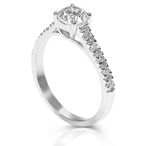 0.60-1.75 CT Round Cut Diamonds - Engagement Ring