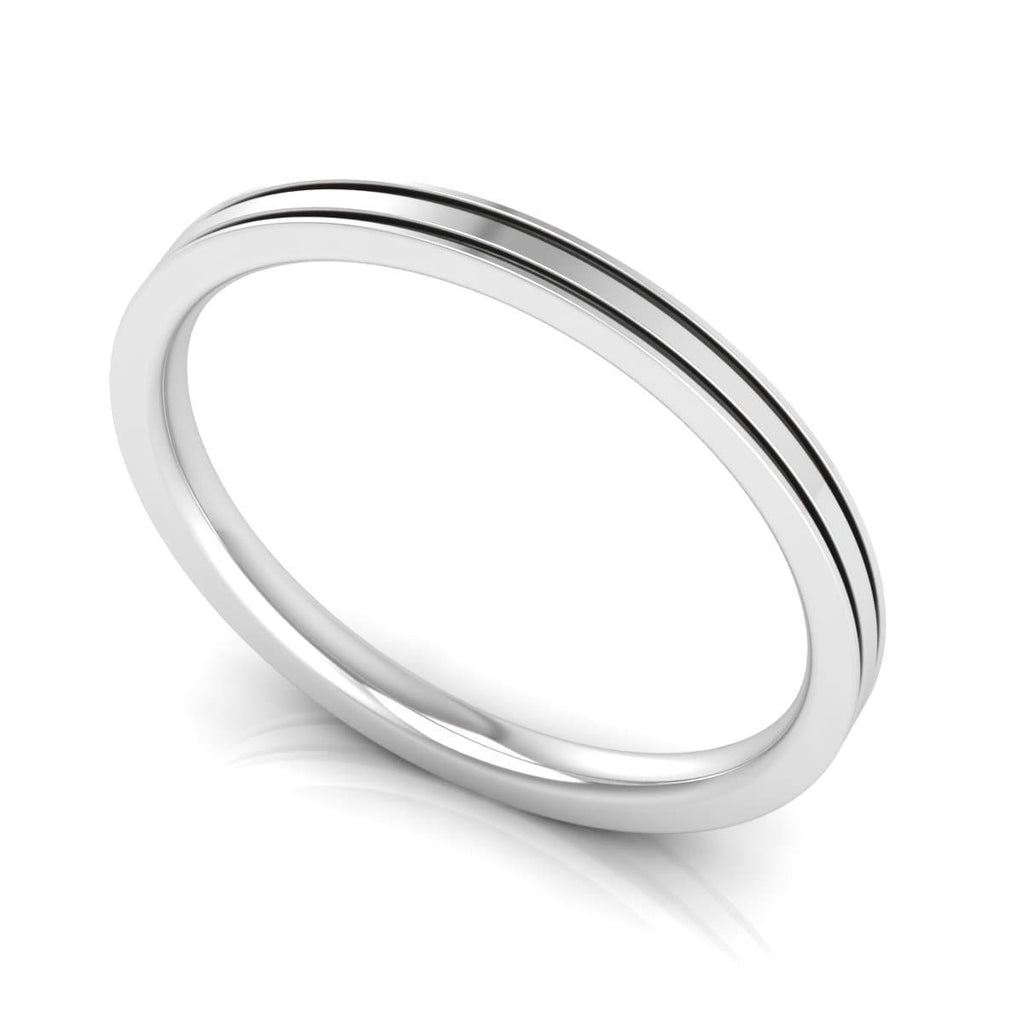 2.0 mm Plain Wedding Band in 14KT, 18KT & Platinum