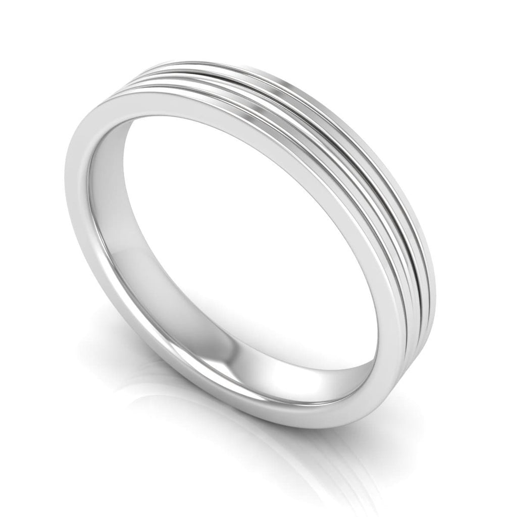 4.0 mm Plain Wedding Band in 14KT, 18KT & Platinum