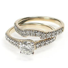 Load image into Gallery viewer, 0.90-2.05 CT Round & Princess Cut Diamonds - Bridal Set