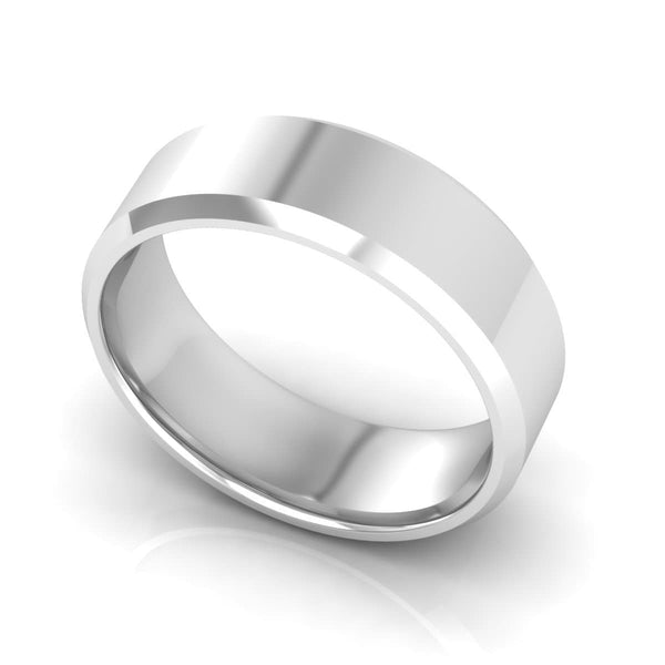 7.0 mm Plain Wedding Band in 14KT, 18KT & Platinum