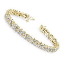 Load image into Gallery viewer, 3.20-3.20 CT Round Cut Diamonds - Tennis Bracelet