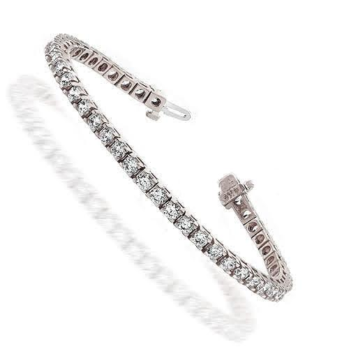 1.50-8.00 CT Round Cut Diamonds - Tennis Bracelet